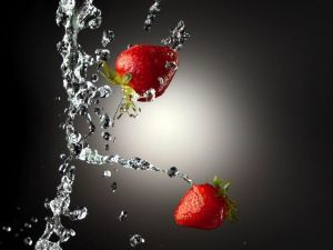 Strawberries to the water