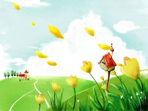 Flying petals