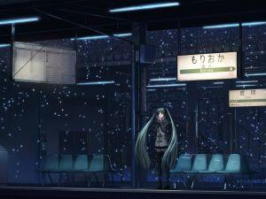 Waiting at the station