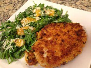 Chicken fillet with rocket salad