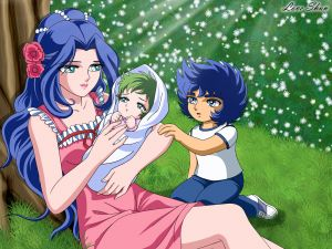 The mother of Ikki and Shun (Saint Seiya)