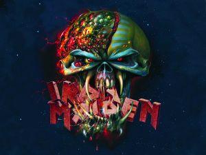 Eddie devouring Iron Maiden