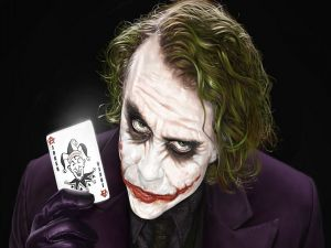 The Joker with his card