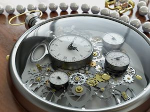 The mechanism of a watch