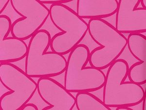 Pink wall with hearts