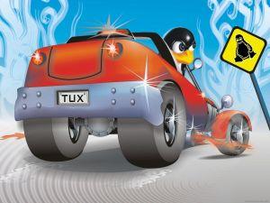 Tux at full speed