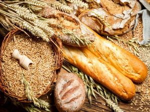 Bread, wheat and barley
