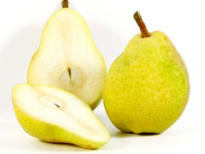 Interior and exterior of a pear