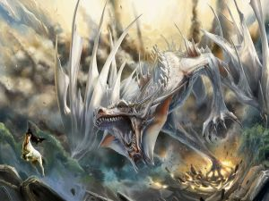 Great white dragon