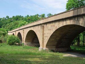 Bridge over Jagst river (Germany)