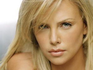 The South African model and actress Charlize Theron