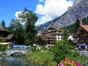Kandersteg, a village in the Bernese Oberland (Switzerland)
