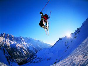 Spectacular ski jump