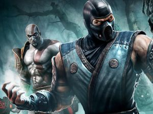"Sub-Zero and Kratos in ""Mortal Kombat"""