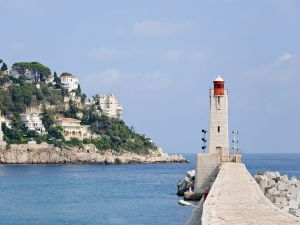 The Lighthouse of Nice, on the Mediterranean coast (Costa Azul)