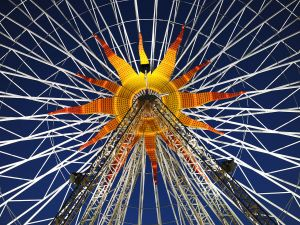 Ferris wheel near to Place Massena, Nice, France
