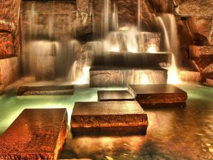 Ultramodern waterfall