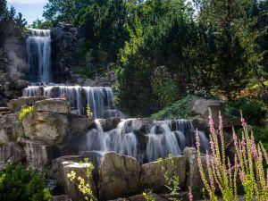 Waterfalls in the Botanical Garden Grugapark