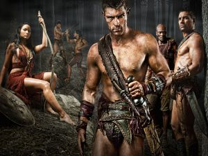 "Some characters from the series ""Spartacus"""