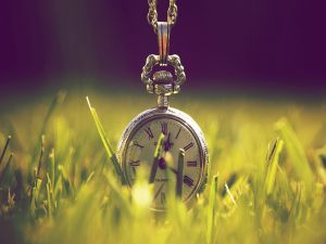Clock on the grass