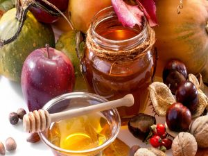 Fruits, nuts and honey