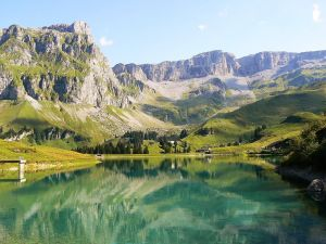 Lake in the Muotathal (Switzerland)