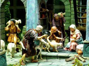 Figurines of a nativity scene
