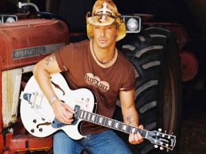 Bret Michaels playing guitar