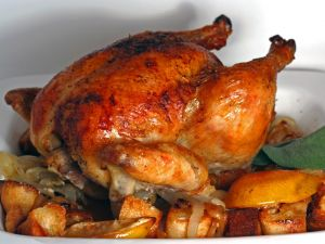 An appetizing grilled chicken