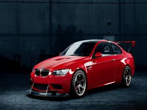 Red BMW car