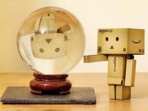 Danbo and a crystal ball