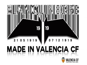 Valencia CF, bar-code and bat