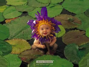 Anne Geddes Collection: Purple little flower