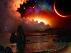 Sunset in another planet