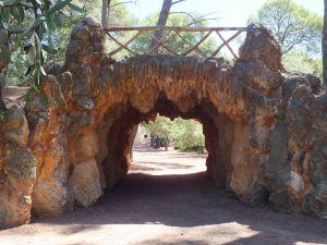 Bridge-entrance to a park