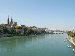 The Rhine on its way through Basel
