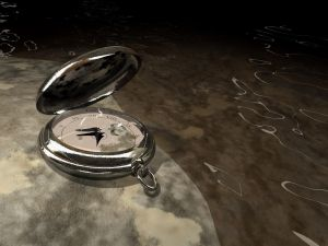 Clock and water