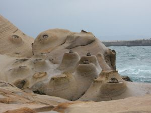 Rocks on the coast of Keelung (Taiwan)