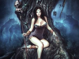 Sorceress on her throne