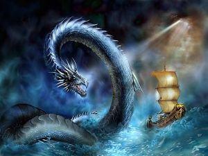 Dragon in the sea