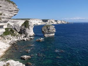 The cliffs of Bonifacio (France)