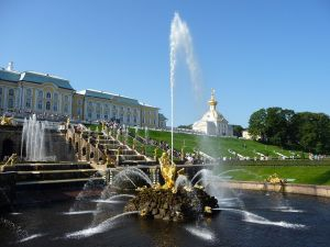 The Samson Fountain at Peterhof (St. Petersburg, Russia)