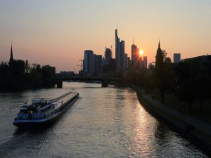 Frankfurt at sunset