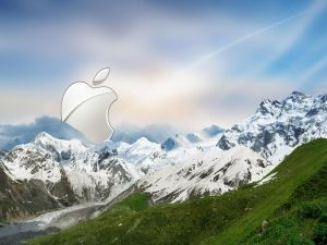Apple in the mountain