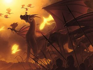 Millenary battle with dragons
