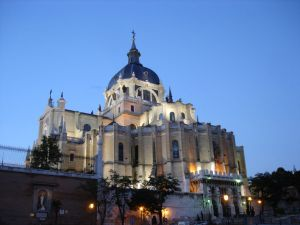 Almudena Cathedral, in Madrid (Spain)