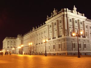 East facade of the Royal Palace of Madrid (Spain)