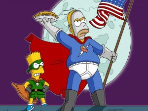 Homer and Bart heroes
