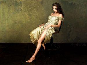 Angelina Jolie pensive