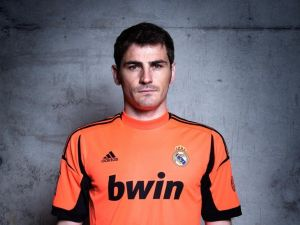 Iker Casillas with orange shirt
